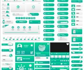 light blue User buttons vector set
