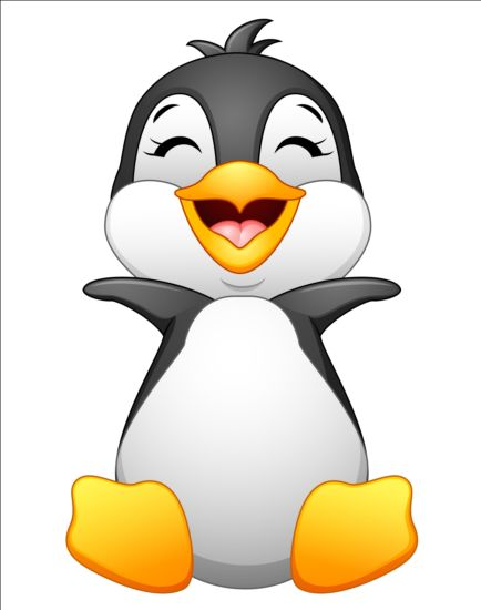 lovely penguin cartoon set vectors 03 free download