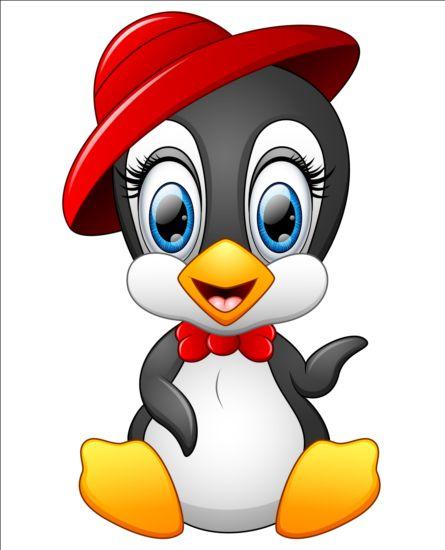 lovely penguin cartoon set vectors 12 free download