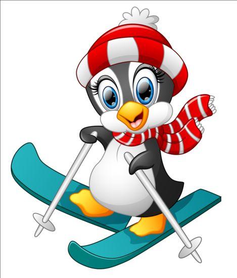 lovely penguin cartoon set vectors 15 free download