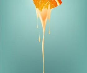 orange smoothie vector background