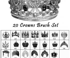 20 Kind Crowns Photoshop Brushes