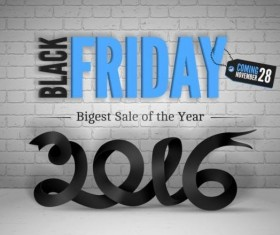 2016 Black friday background vectors material 02