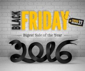 2016 Black friday background vectors material 03
