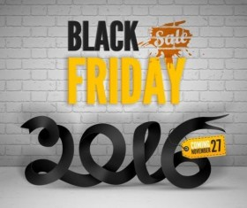 2016 Black friday background vectors material 04