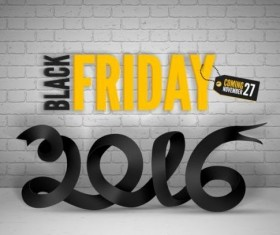 2016 Black friday background vectors material 05
