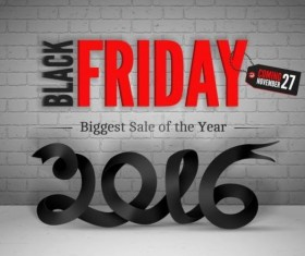 2016 Black friday background vectors material 06