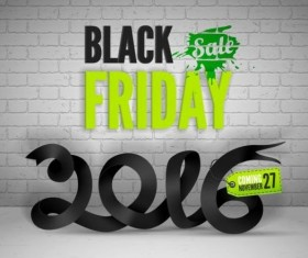 2016 Black friday background vectors material 09