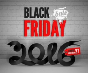 2016 Black friday background vectors material 11