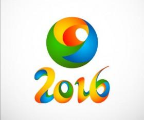 2016 Football colored logos vector