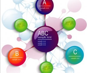 3D molecules infographics tamplate vector 04
