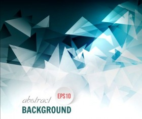 3D triangle modern vector background 02