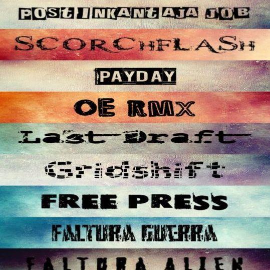 9 Kind retro font set