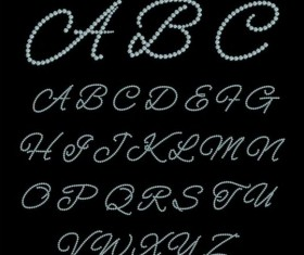 Abstract diamond alphabet vectors