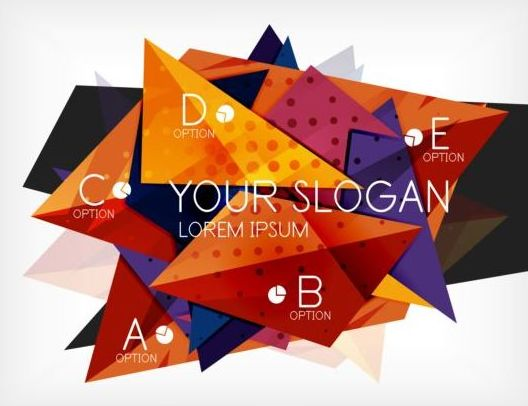 Abstract polygons business background vector 04