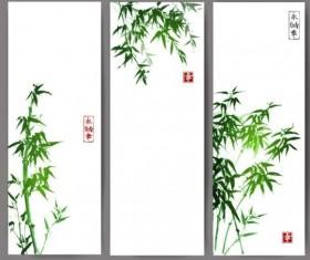 Bamboo banner hand drawn vector