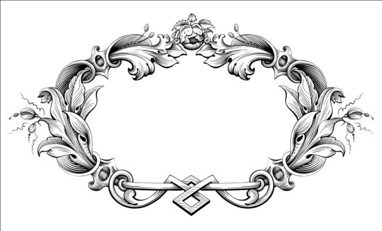 Baroque ornaments frame vector free download