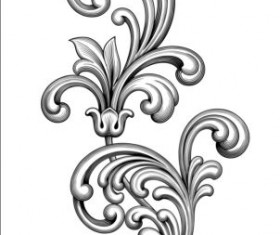 Baroque scroll long vectors