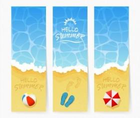 Beach summer banners vector