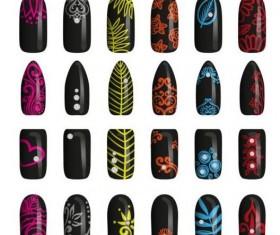 Beautiful painted nails vectors set 08