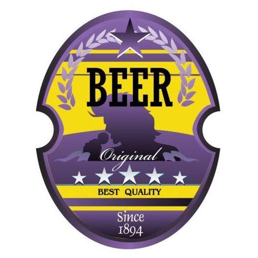 Beer trademark sticker vectors 05