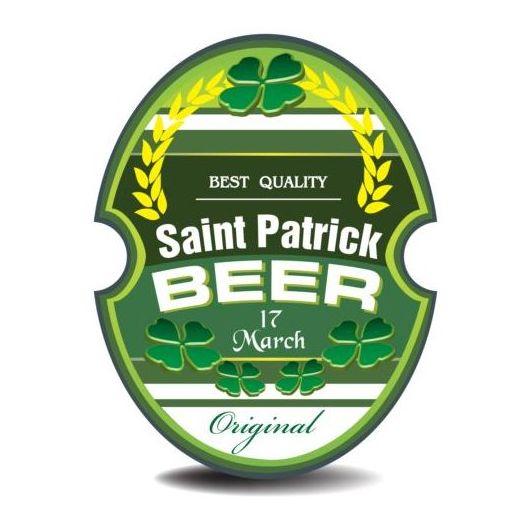 Beer trademark sticker vectors 09