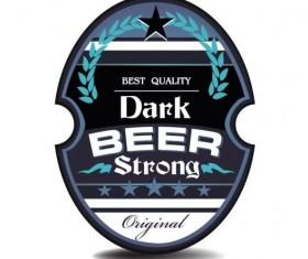 Beer trademark sticker vectors 10