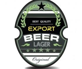 Beer trademark sticker vectors 11