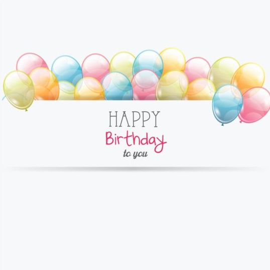 Birthday Card With Transparent Balloons Vector 01 Free Download Download 3,193 birthday balloons free vectors. transparent balloons vector 01