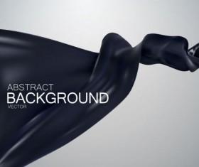Black silk fabric background vector