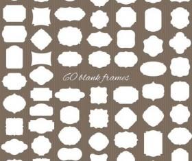 Blank white frame vintage vector 04