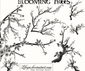 Blooming Trees Photoshop Brushes