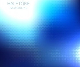 Blue halftone art background vector