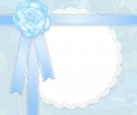 Blue lace card vector