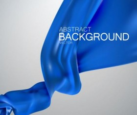 Blue silk fabric background vector