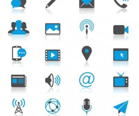 Blue with gray media icons 01