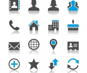 Blue with gray media icons 02