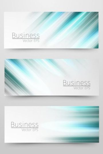 Business banner with blue abstract vector 02