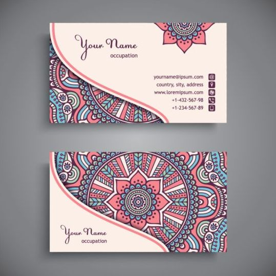 Business card with ethnic pattern vector set 06 free download business card with ethnic pattern vector set 06 reheart Image collections