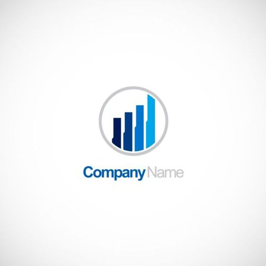 Business finance chart company logo vector