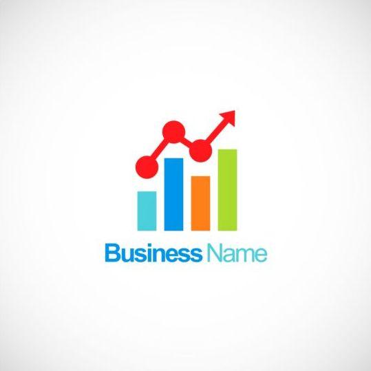 Business Finance Stock Chart Company Logo Vector Vector