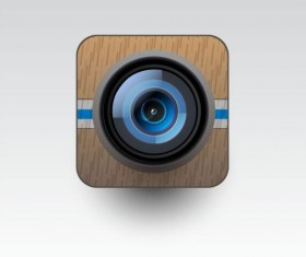 Camera application Icons creative design 03