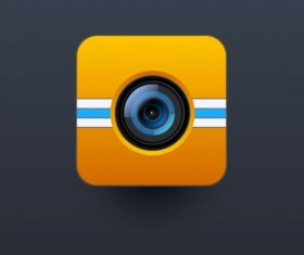Camera application Icons creative design 05