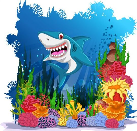 cartoon underwater world beautiful vector 01 vector