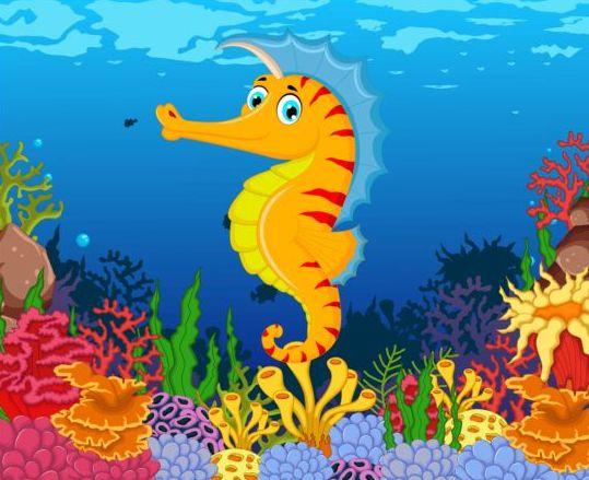 cartoon underwater world beautiful vector 06 download name cartoon ...