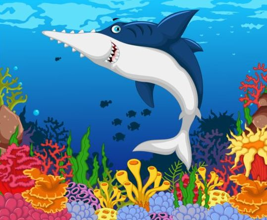 cartoon underwater world beautiful vector 10 free download
