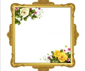 Classical frame with flower design 01