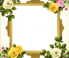 Classical frame with flower design 02