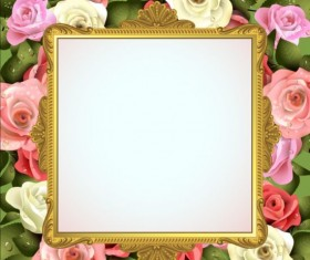 Classical frame with flower design 03