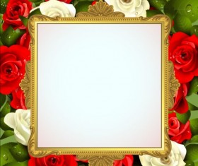 Classical frame with flower design 04